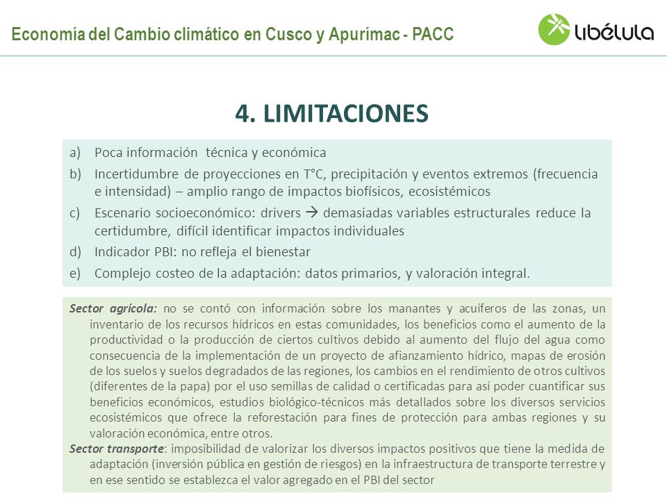Economía del Cambio climático en Cusco y Apurímac - PACC