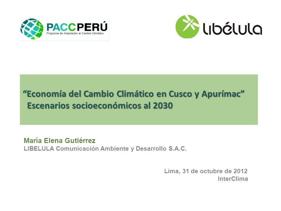 Economía del Cambio Climático en Cusco y Apurímac