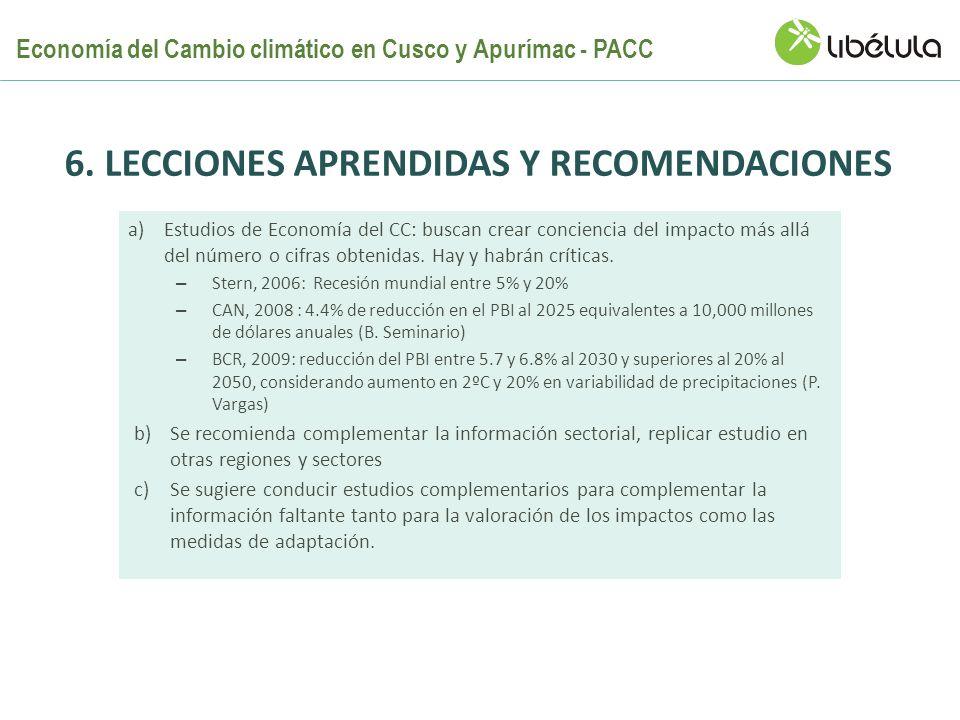 6. LECCIONES APRENDIDAS y recomendaciones