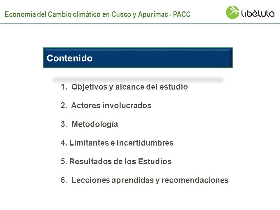 Contenido Economía del Cambio climático en Cusco y Apurímac - PACC