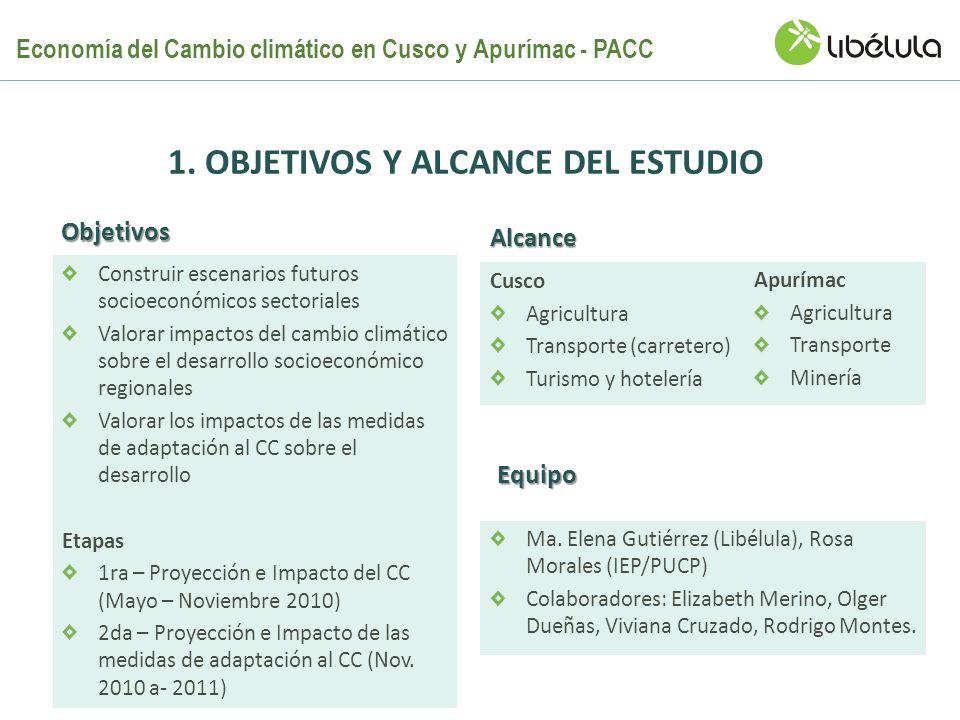 1. Objetivos Y ALCANCE del Estudio