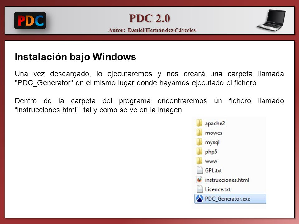 Instalación bajo Windows
