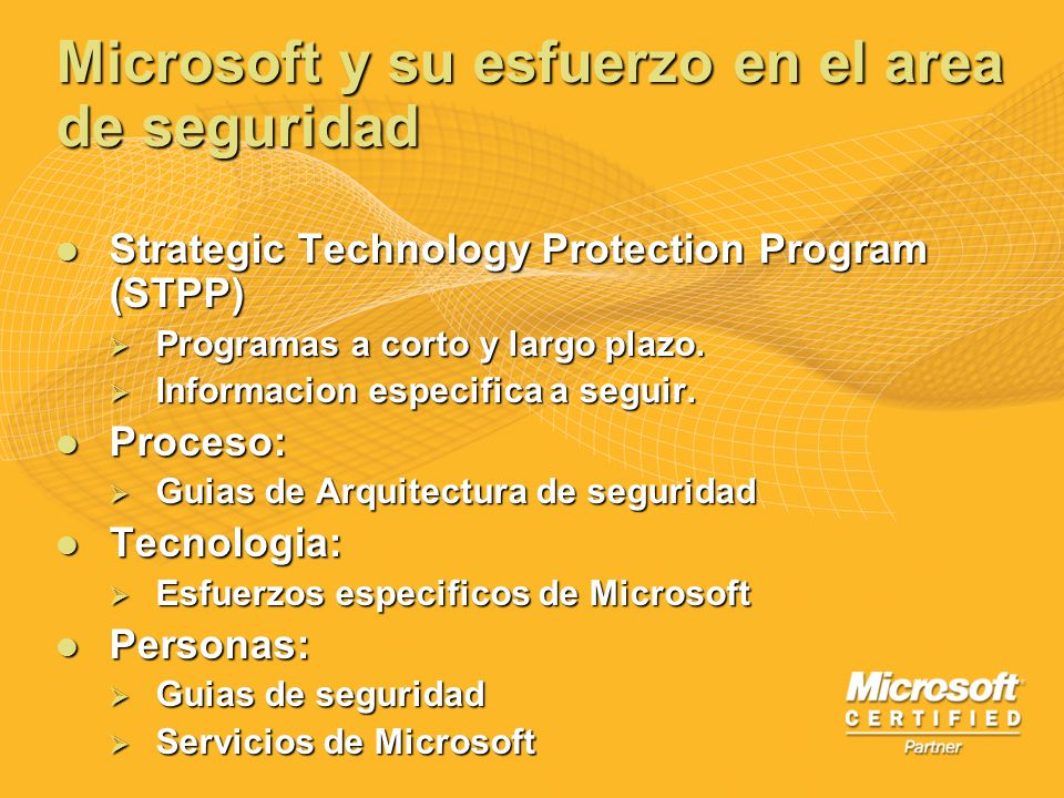Microsoft y su esfuerzo en el area de seguridad