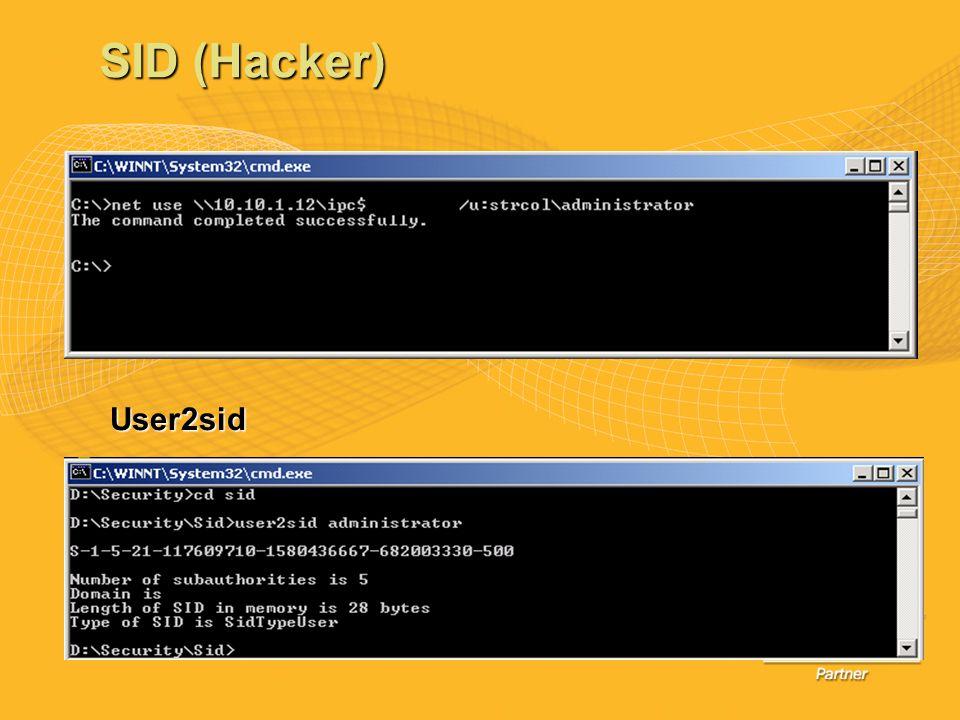 SID (Hacker) User2sid