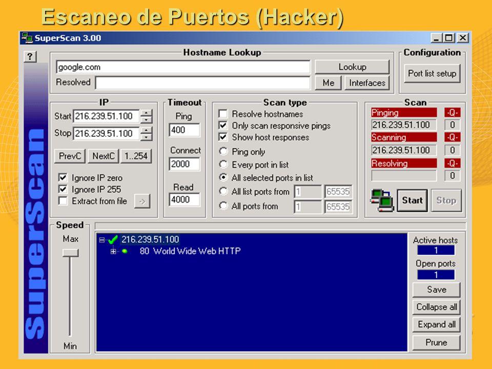Escaneo de Puertos (Hacker)