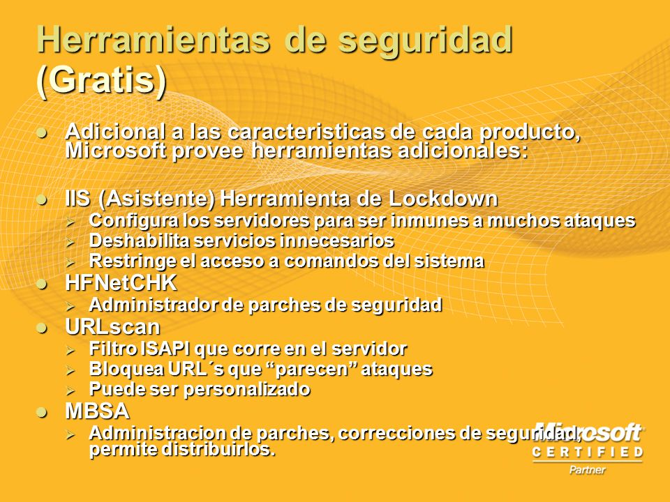 Herramientas de seguridad (Gratis)