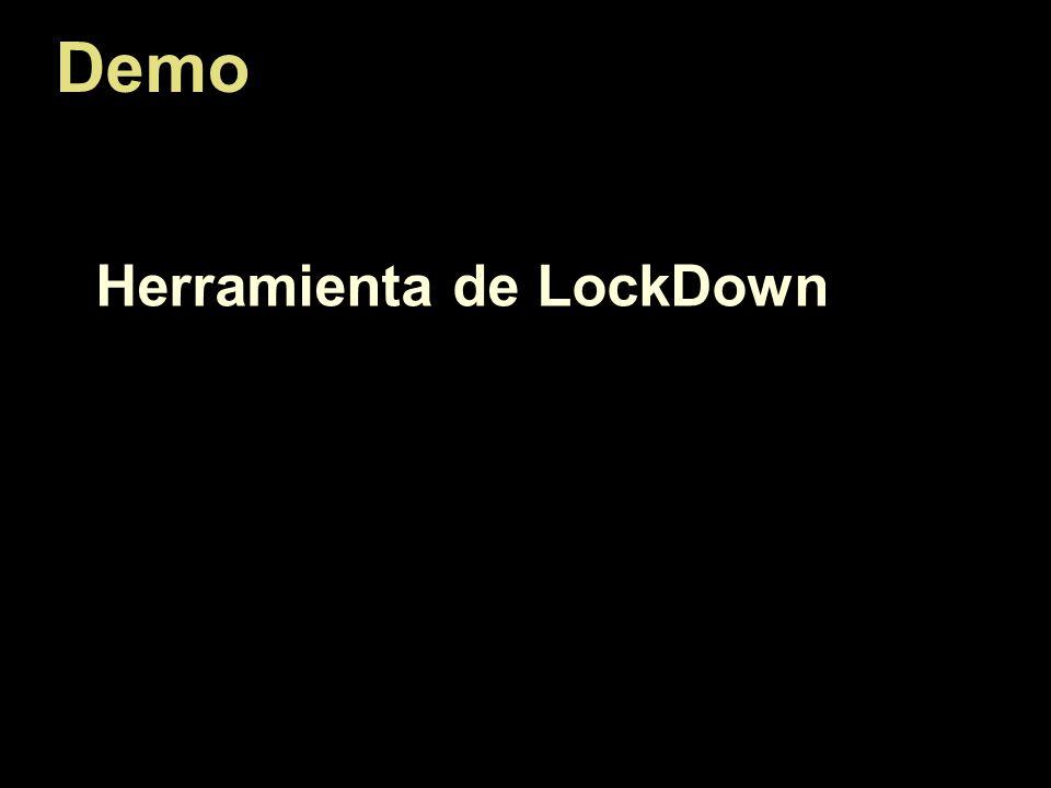 Demo Herramienta de LockDown