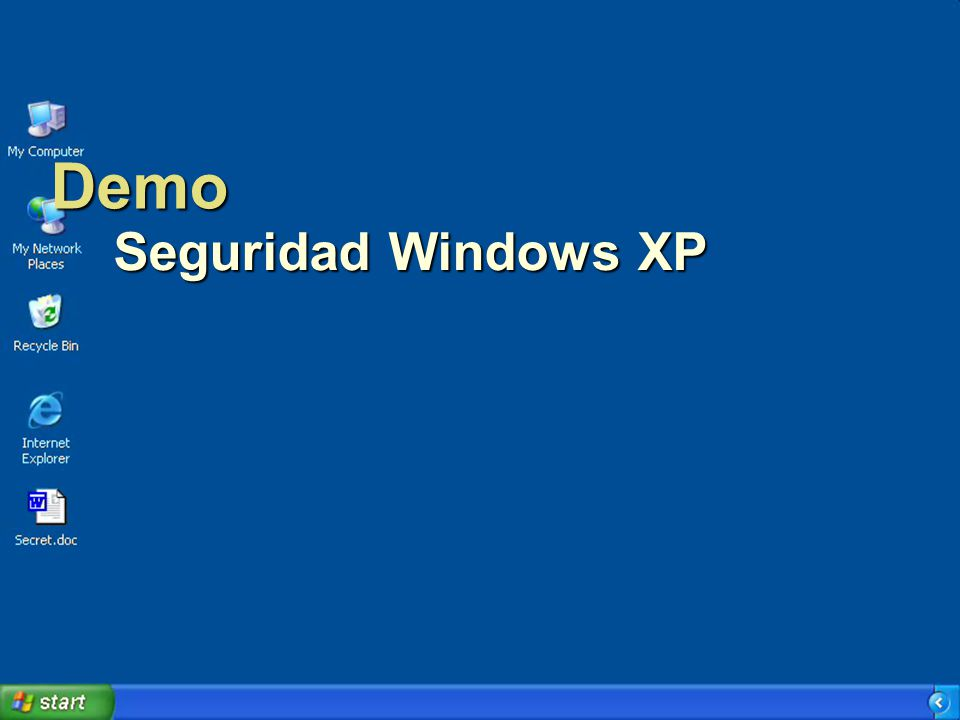 Demo Seguridad Windows XP