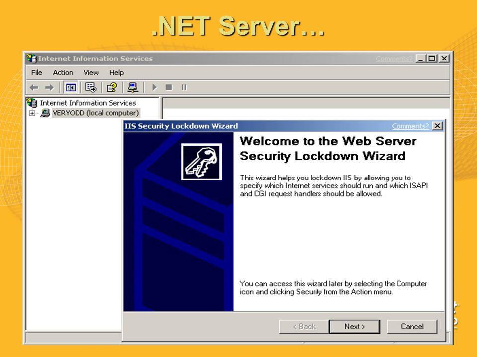 .NET Server…