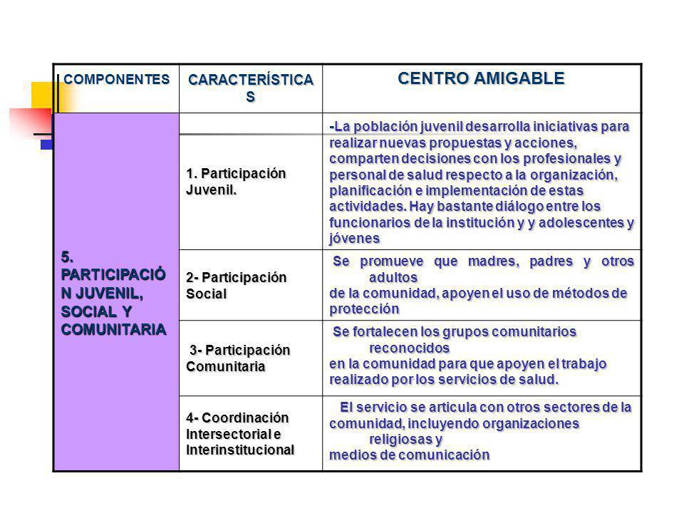 CENTRO AMIGABLE 5. PARTICIPACIÓN JUVENIL, SOCIAL Y COMUNITARIA