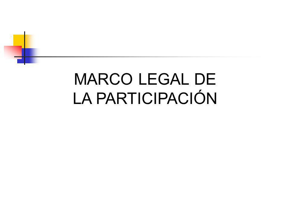 MARCO LEGAL DE LA PARTICIPACIÓN