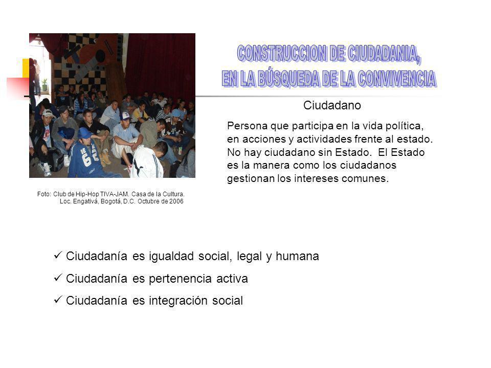 CONSTRUCCION DE CIUDADANIA, EN LA BÚSQUEDA DE LA CONVIVENCIA