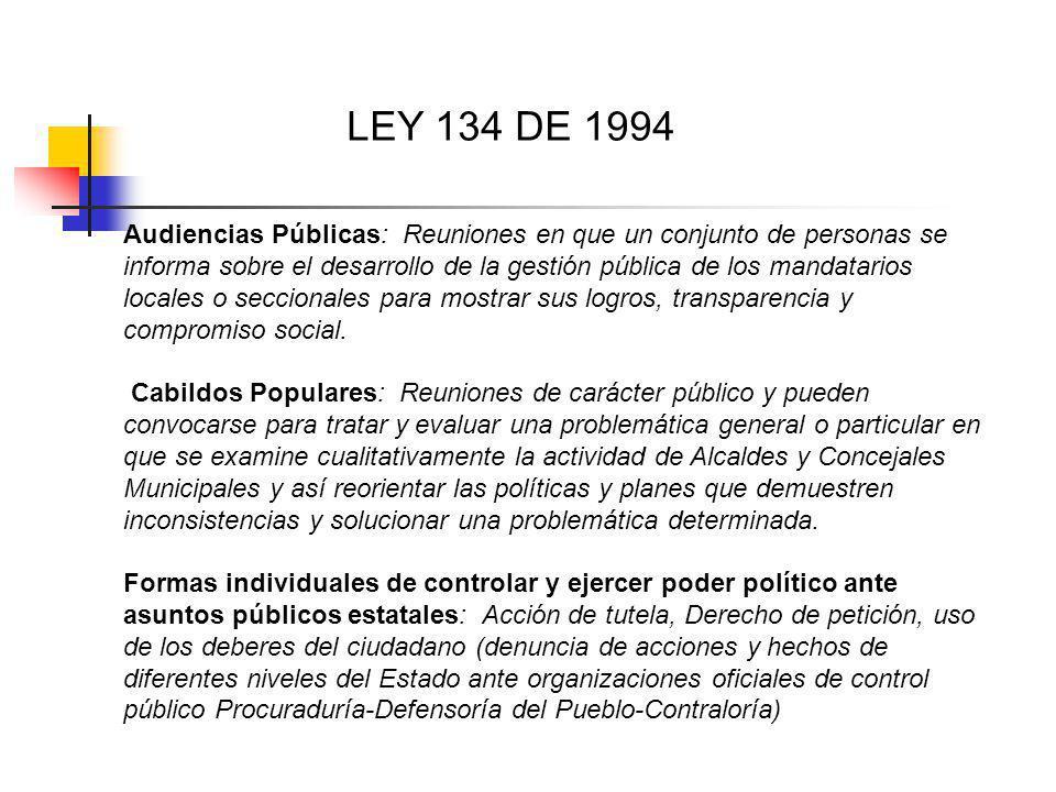 LEY 134 DE 1994