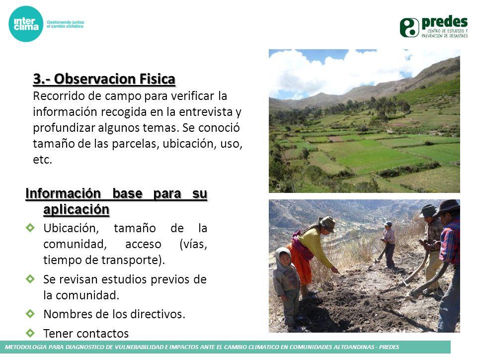 3.- Observacion Fisica