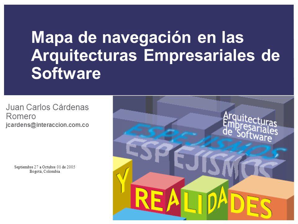 Mapa de navegación en las Arquitecturas Empresariales de Software