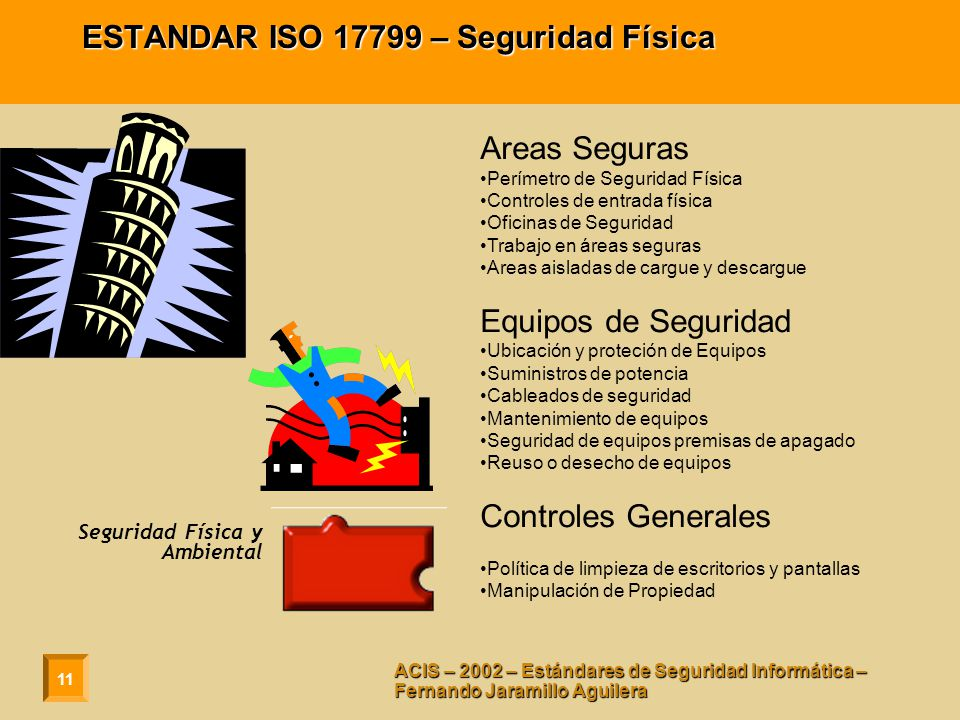 ESTANDAR ISO 17799 – Seguridad Física