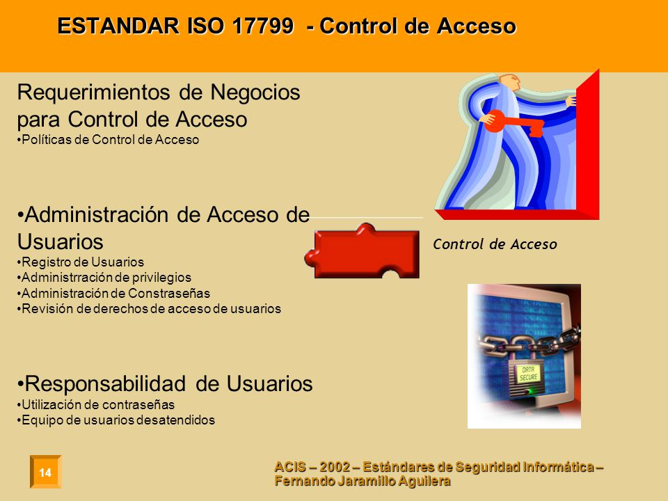 ESTANDAR ISO 17799 - Control de Acceso