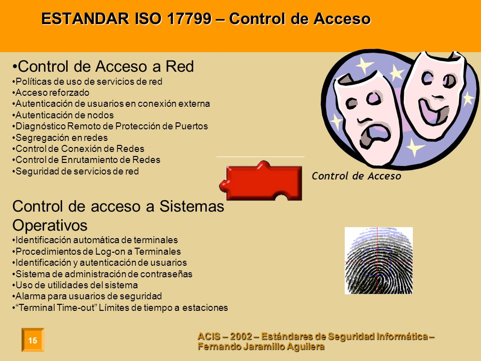ESTANDAR ISO 17799 – Control de Acceso