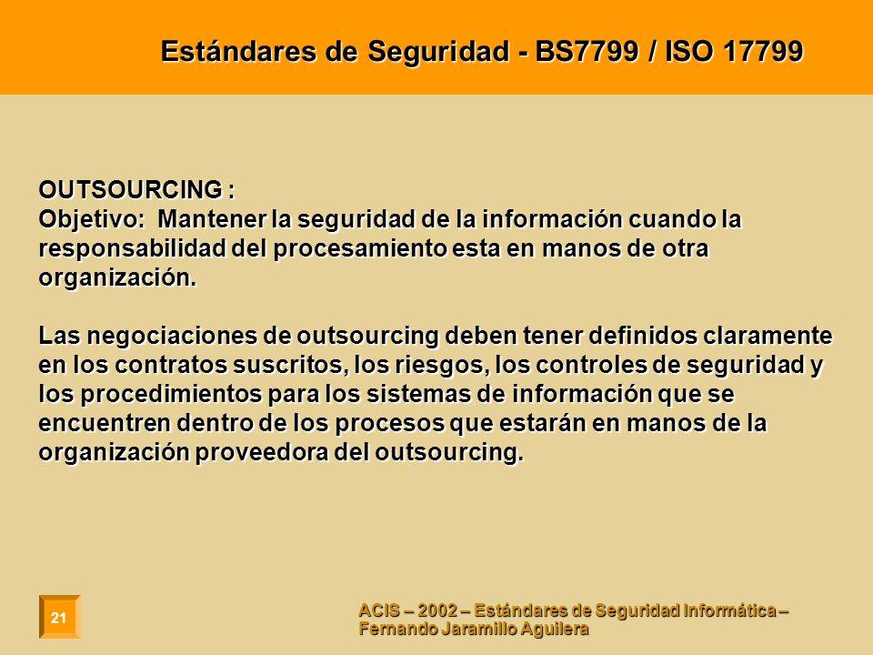 Estándares de Seguridad - BS7799 / ISO 17799
