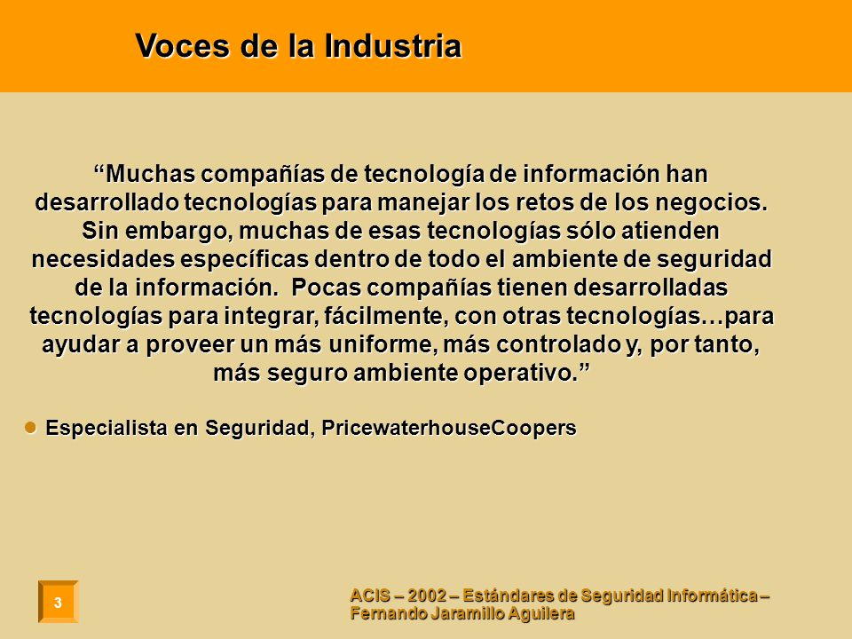 Voces de la Industria