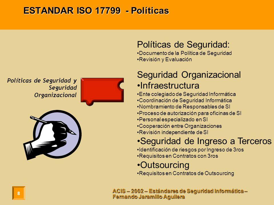ESTANDAR ISO 17799 - Políticas