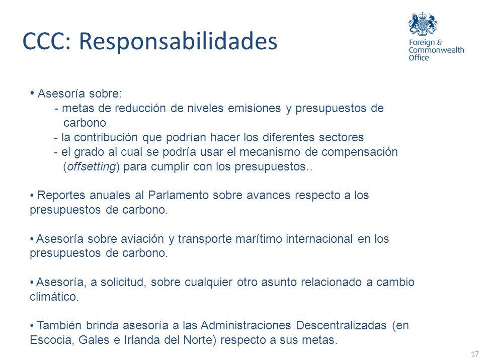 CCC: Responsabilidades