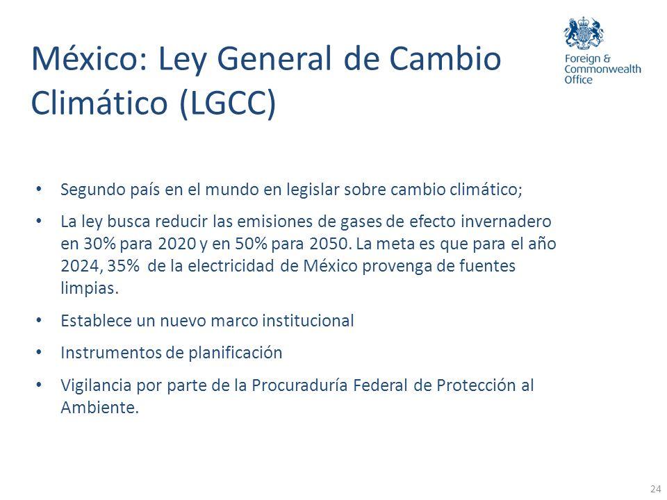 México: Ley General de Cambio Climático (LGCC)