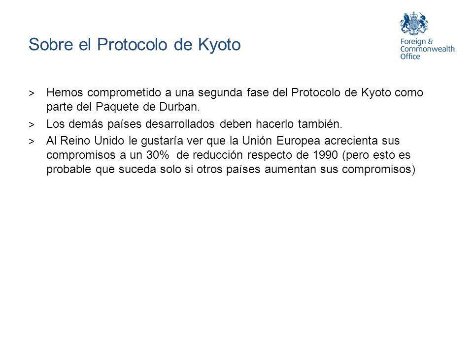 Sobre el Protocolo de Kyoto