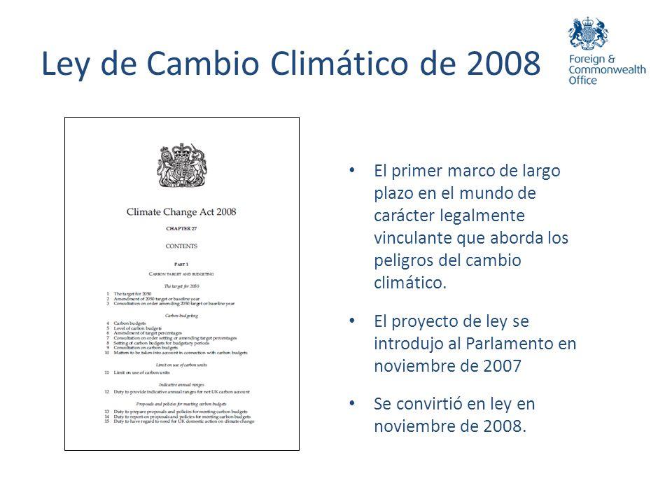 Ley de Cambio Climático de 2008