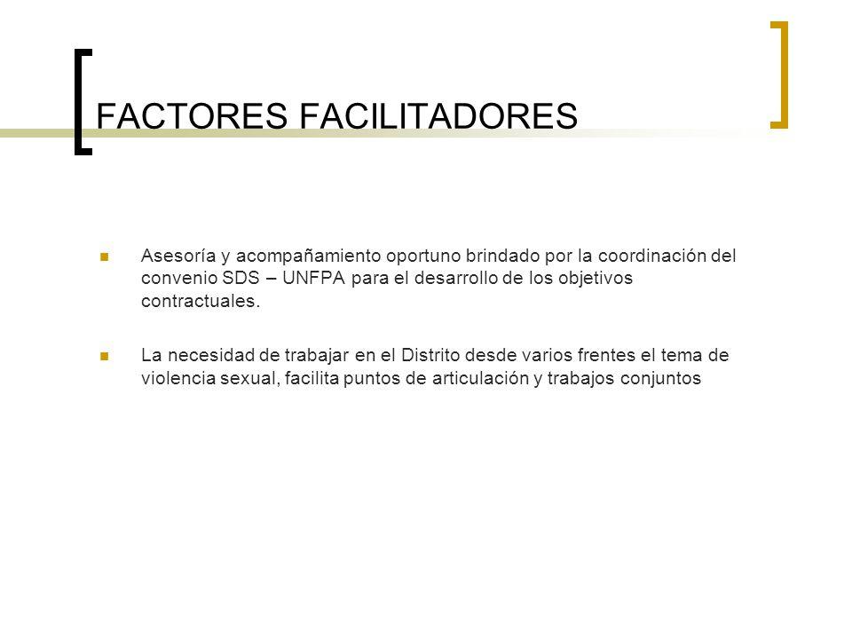 FACTORES FACILITADORES