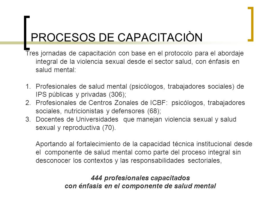 PROCESOS DE CAPACITACIÒN
