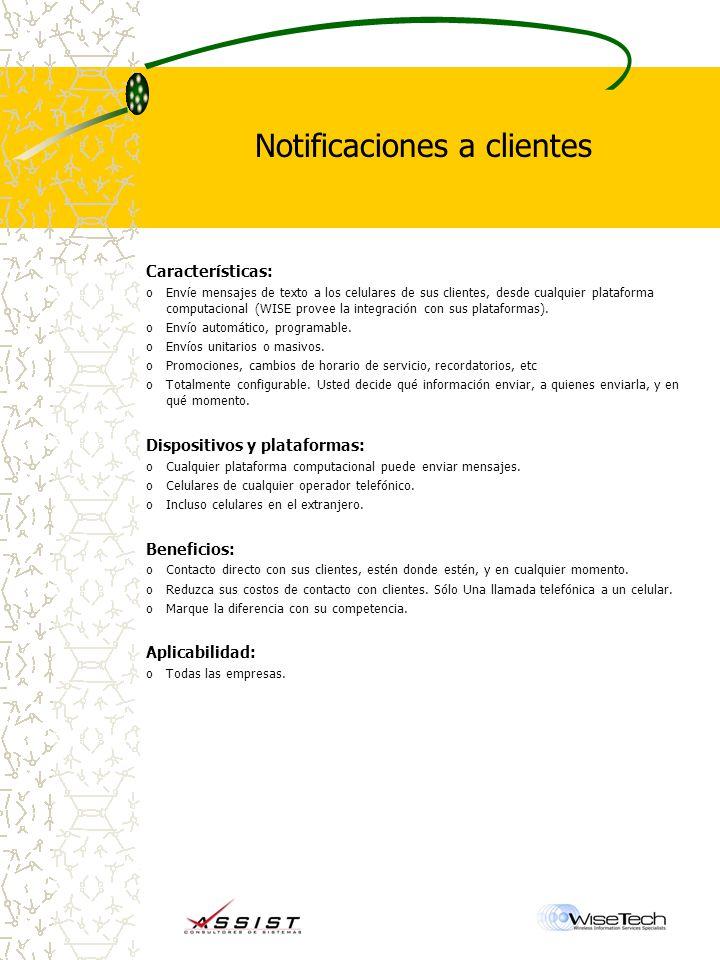 Notificaciones a clientes
