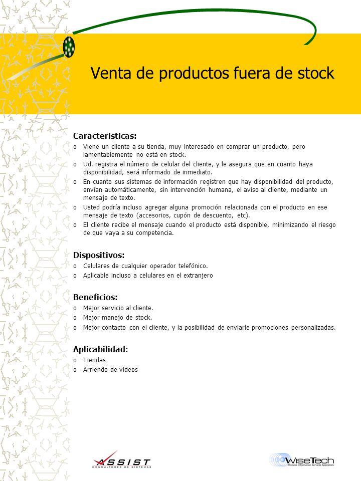 Venta de productos fuera de stock