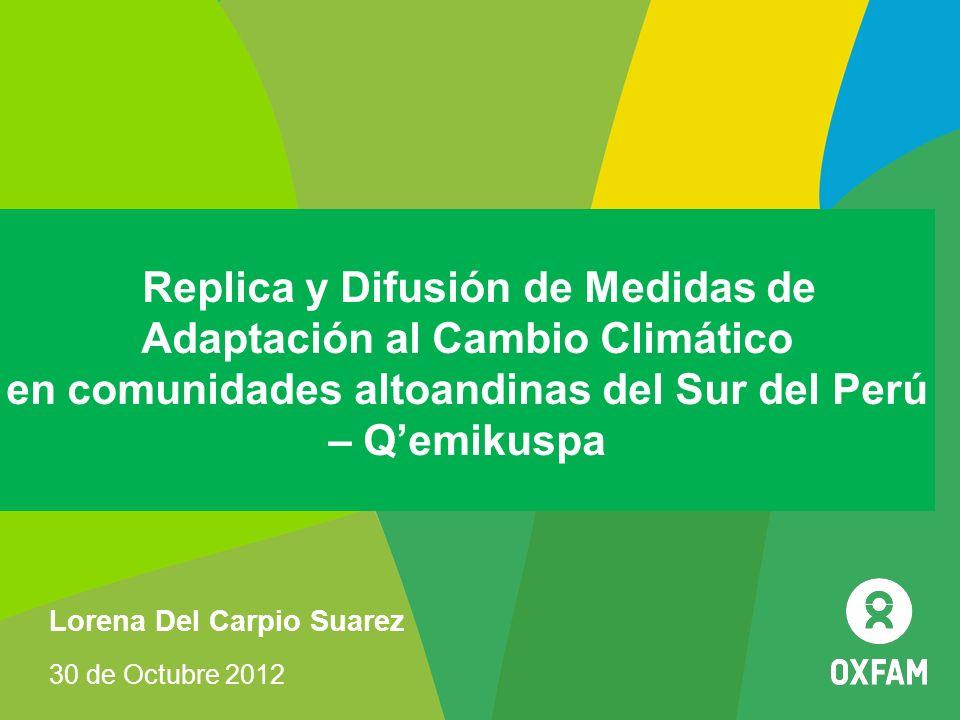 Replica y Difusión de Medidas de Adaptación al Cambio Climático en comunidades altoandinas del Sur del Perú – Q'emikuspa