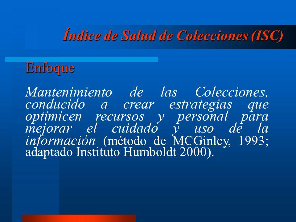 Índice de Salud de Colecciones (ISC)