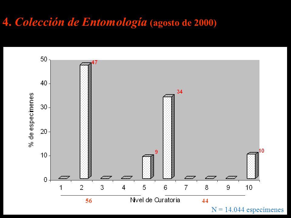 4. Colección de Entomología (agosto de 2000)