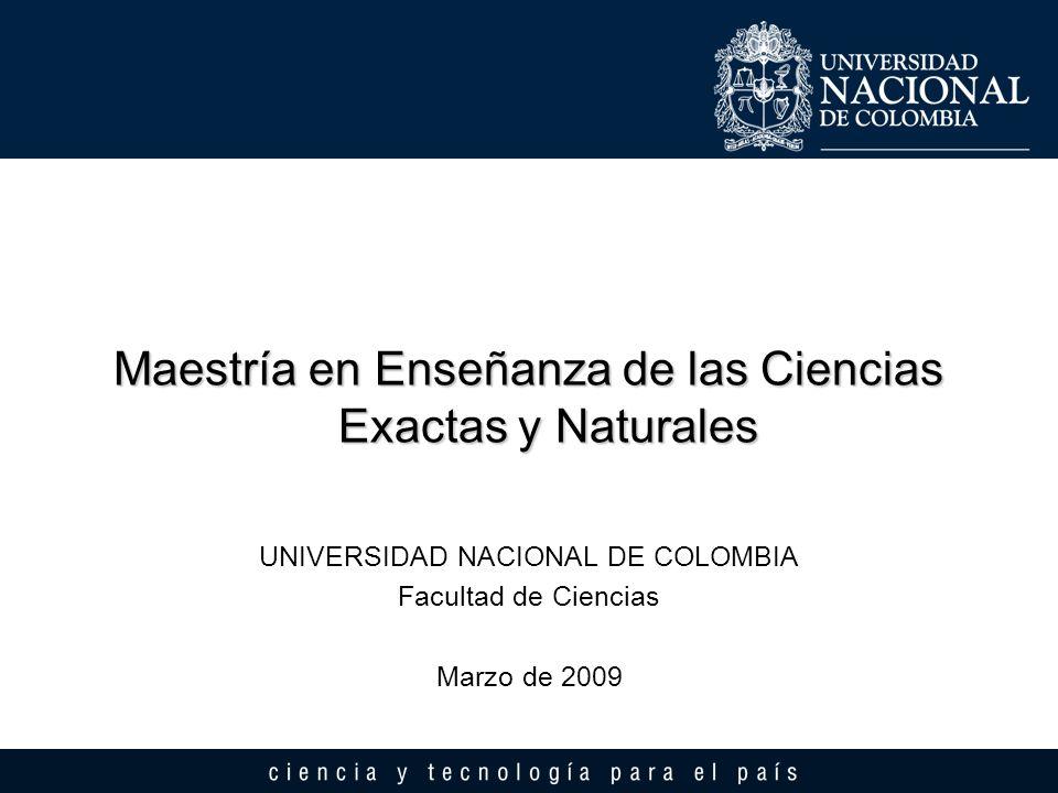 Maestría en Enseñanza de las Ciencias Exactas y Naturales