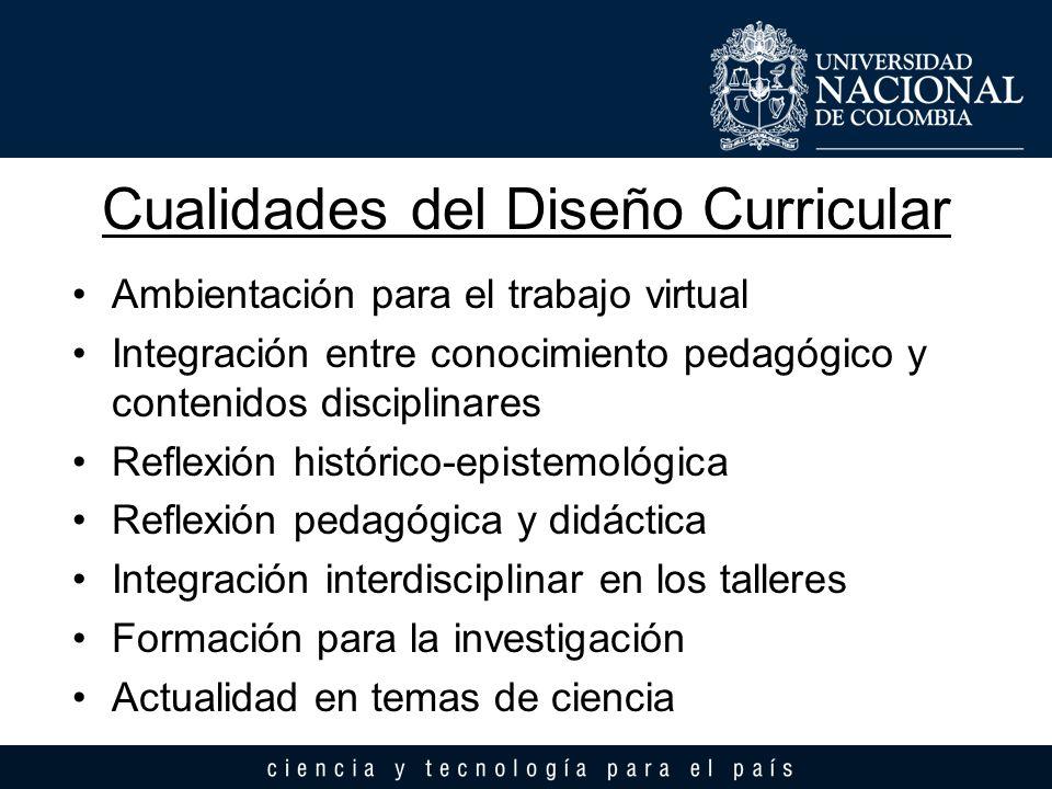Cualidades del Diseño Curricular