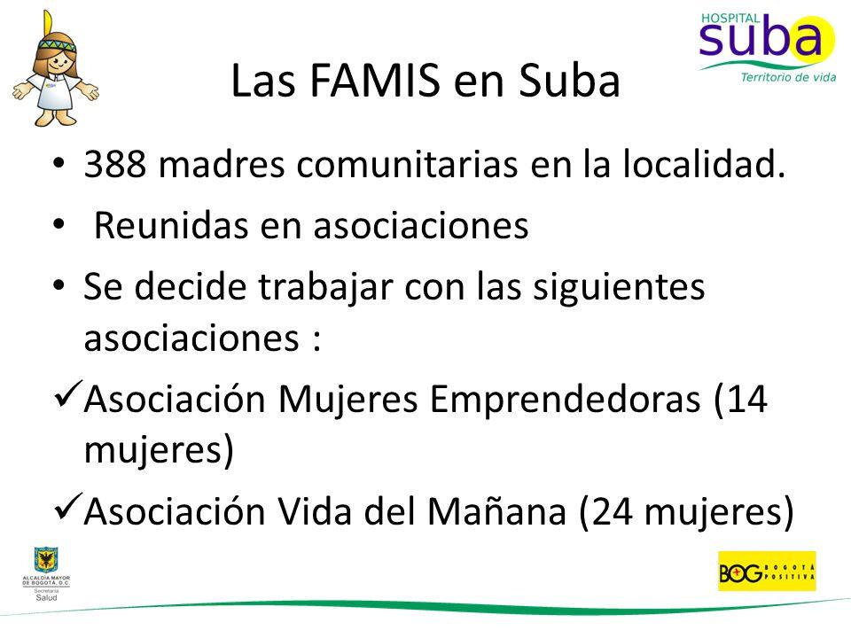 Las FAMIS en Suba 388 madres comunitarias en la localidad.
