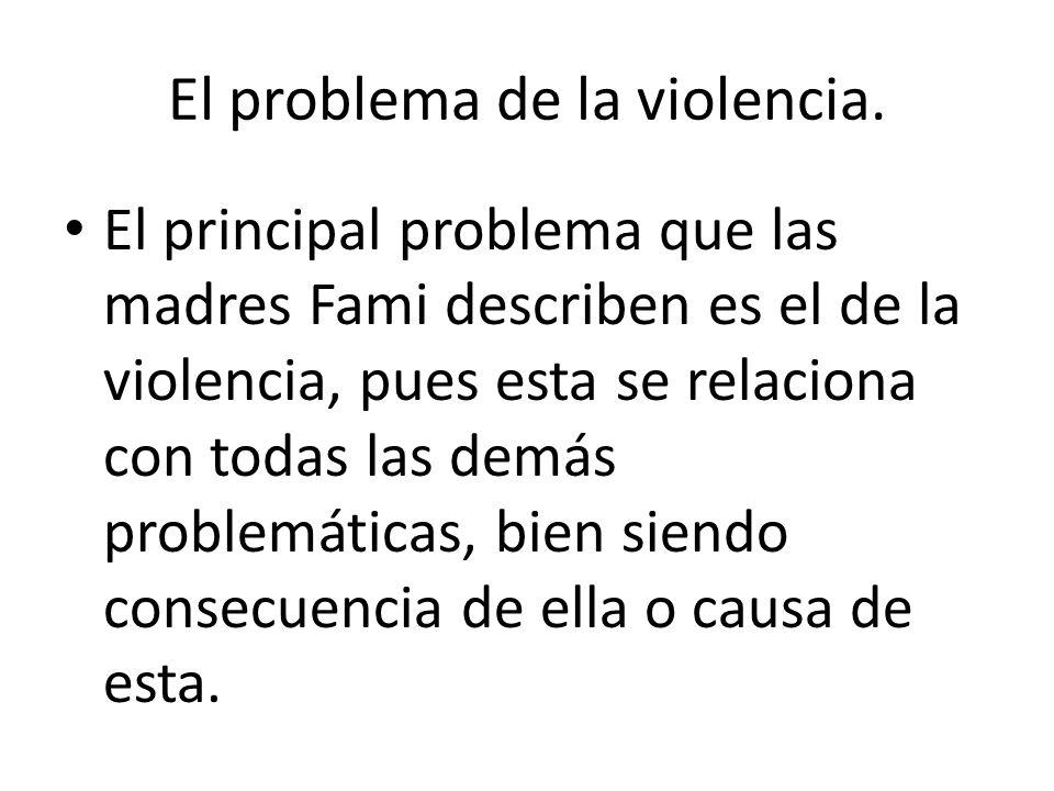 El problema de la violencia.