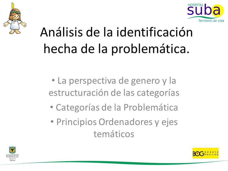 Análisis de la identificación hecha de la problemática.