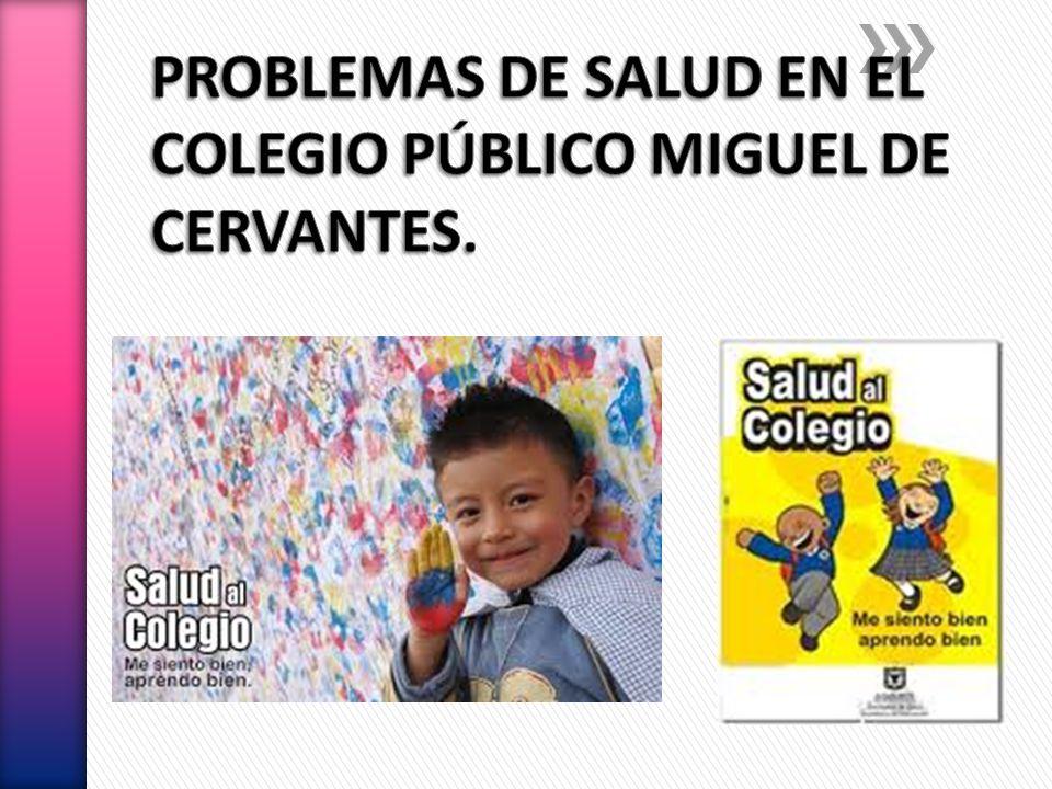PROBLEMAS DE SALUD EN EL COLEGIO PÚBLICO MIGUEL DE CERVANTES.
