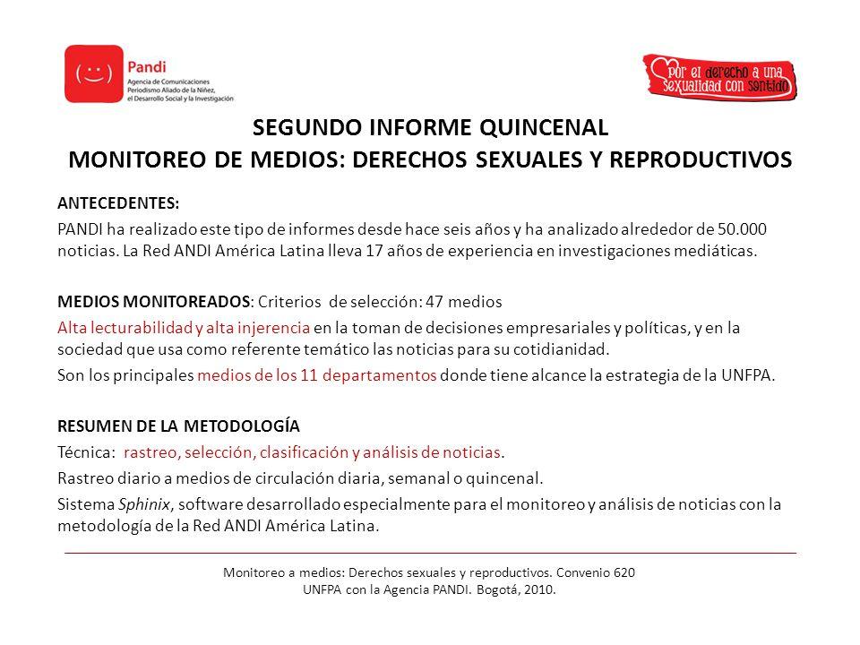 Monitoreo a medios: Derechos sexuales y reproductivos. Convenio 620