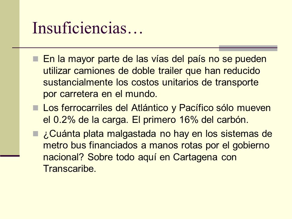 Insuficiencias…