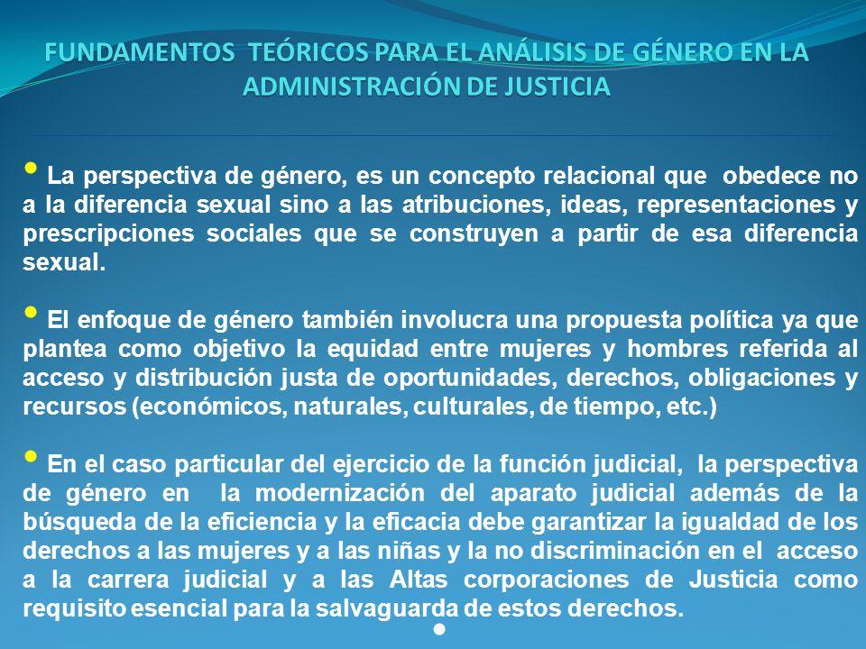 FUNDAMENTOS TEÓRICOS PARA EL ANÁLISIS DE GÉNERO EN LA ADMINISTRACIÓN DE JUSTICIA