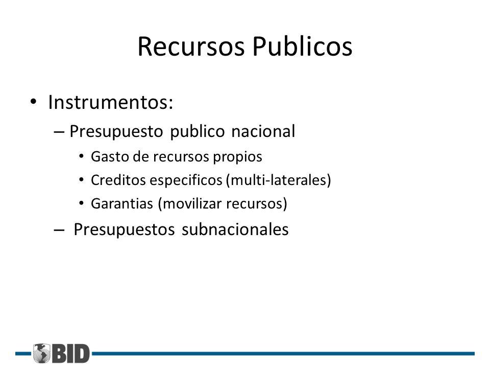 Recursos Publicos Instrumentos: Presupuesto publico nacional