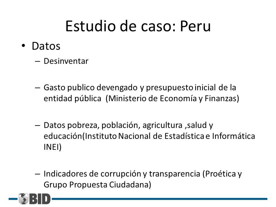 Estudio de caso: Peru Datos Desinventar