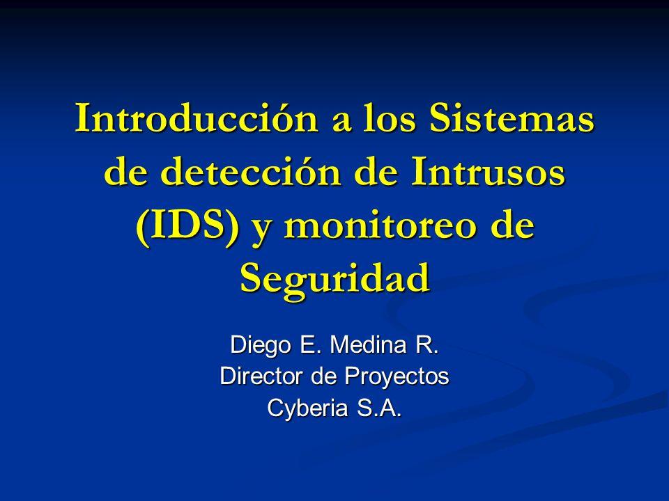 Diego E. Medina R. Director de Proyectos Cyberia S.A.
