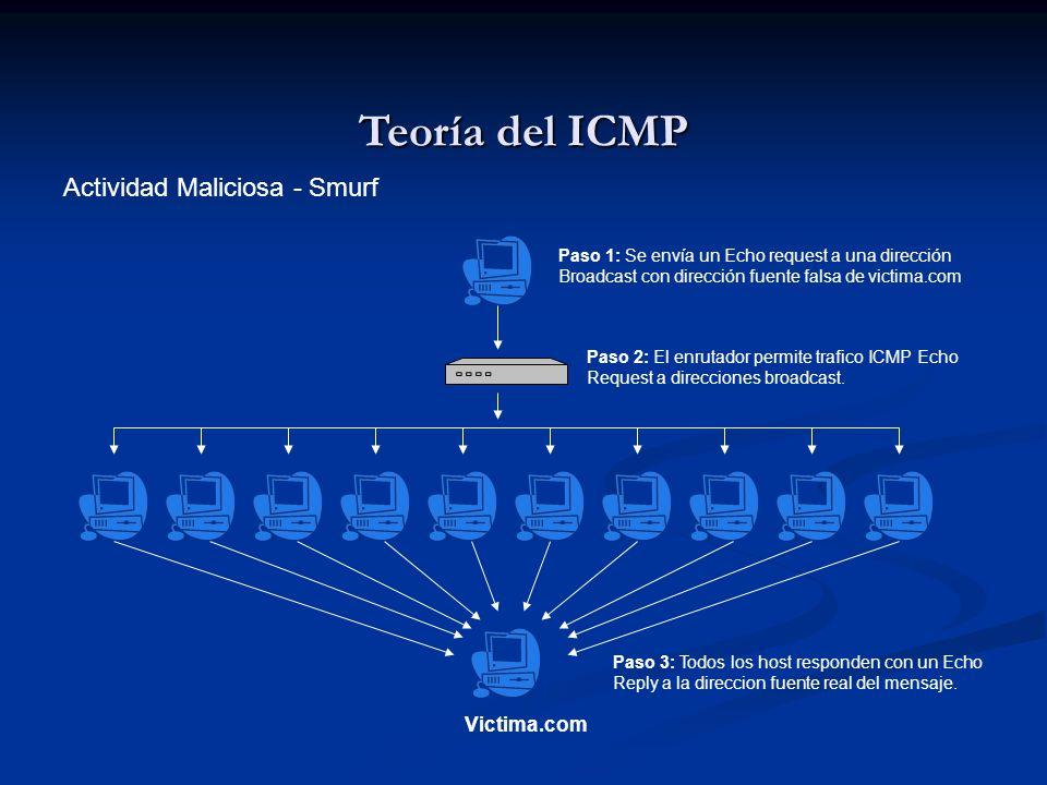 Teoría del ICMP Actividad Maliciosa - Smurf Victima.com