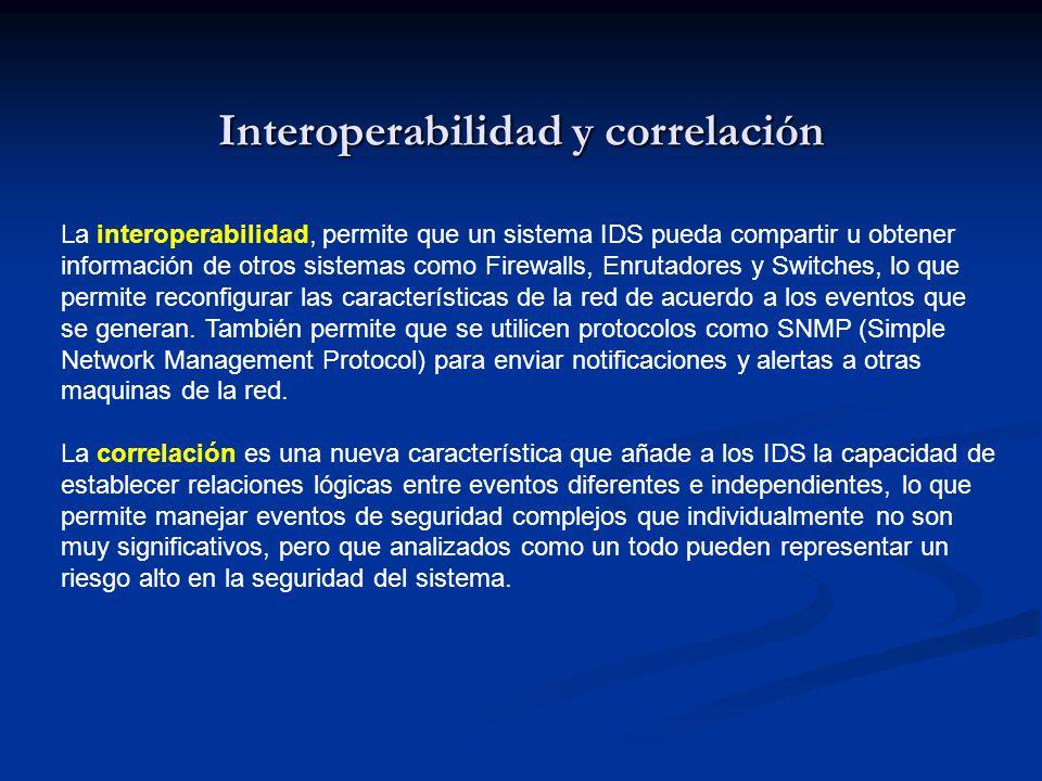Interoperabilidad y correlación